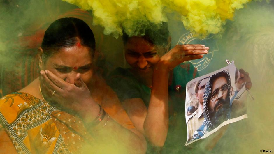 Mixed reactions- while people protested in Kashmir, others elsewhere in India celebrated