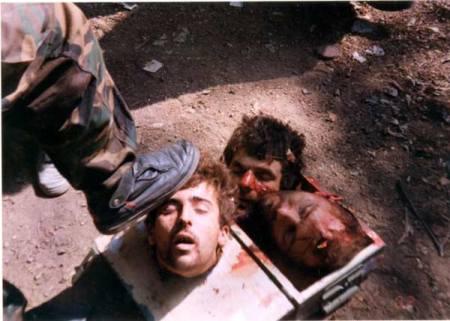 Beheaded photos - not Indians