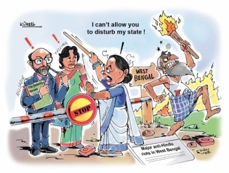 Hindus attacked both in East and West Bengal -2013