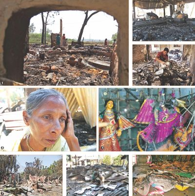 Hindus attacked - temples torched - houses looted - 2013
