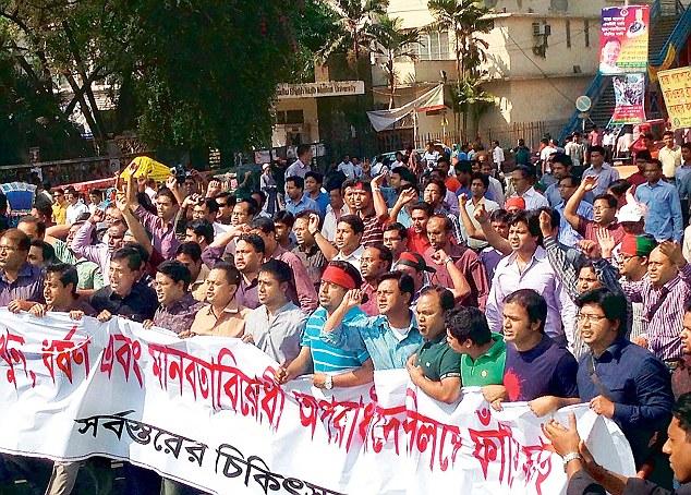 Supporters at Shabag square Bangladesh 2013