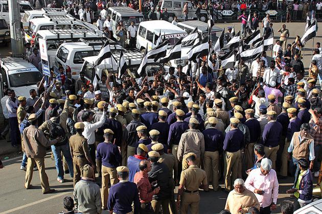 TMMK  demonstration in Udhagamandalam Feb 2013