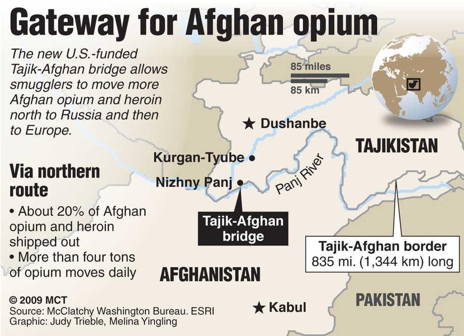 Afgan opium crossing borders
