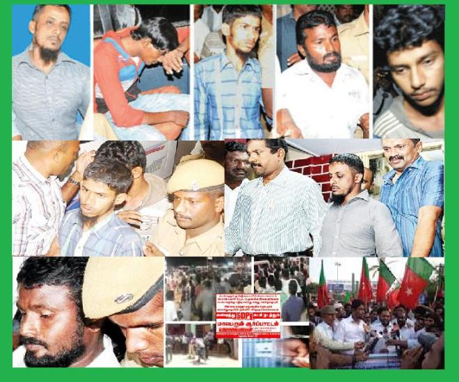 Five arrested in Melappalayam - Musims protest, argue