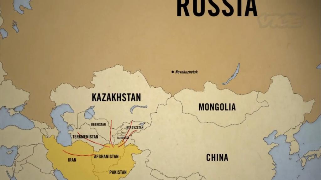 How drug trade operates through Golden crescent