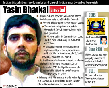 Yasin Bhatkal arrested