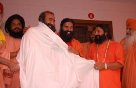 Acharya Pramod Krishan with Baba Ram dev