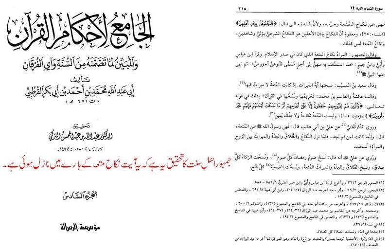Mutah marriage Quran position