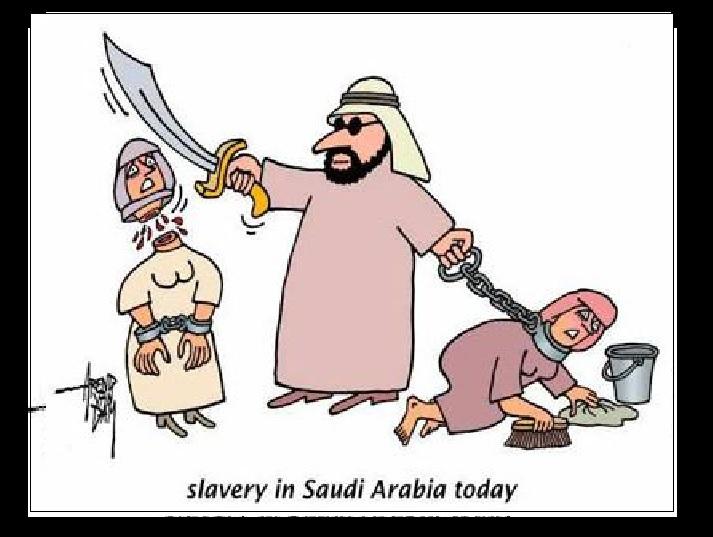 saudi slavery cartoon