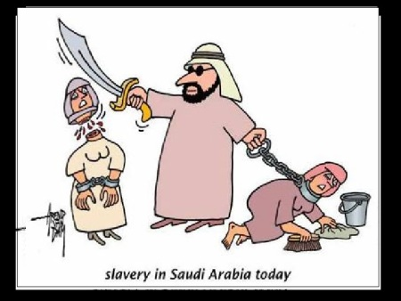 saudi slavery cartoon