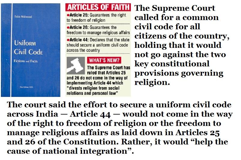 SC urges for Uniform Civil Code 2003