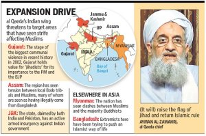 HT news cutting about Jihadi expansion in India