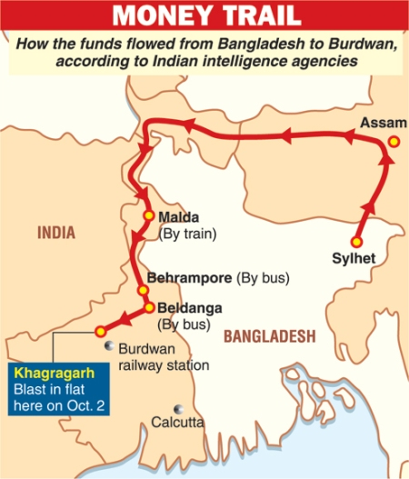 how money reached khagragarh from sylhet