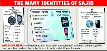 sajid has many id cards issued by goi