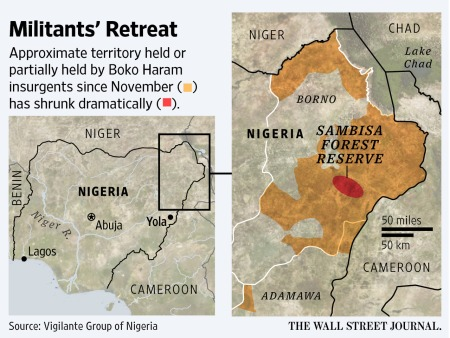 Boko Karam hide-outs - Wall Street Journal picture