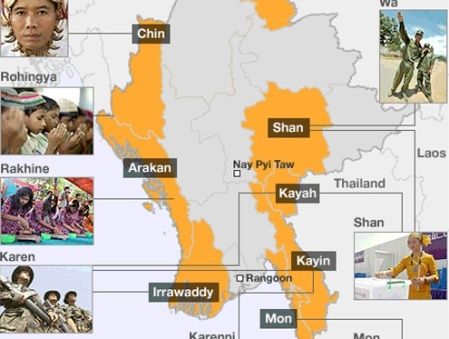 map-rohingya muslims activities
