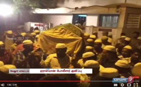 Ambur riot - body brought to Ambur