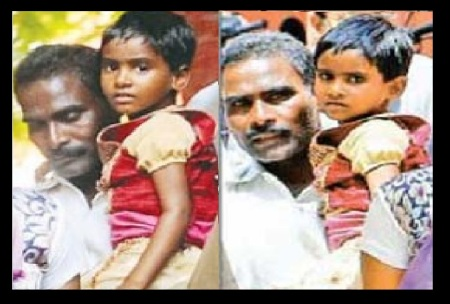 Pazhani with his daughter Rishitha- Ambur issue