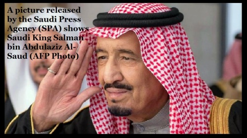 A picture released by the Saudi Press Agency -SPA- shows Saudi King Salman bin Abdulaziz Al-Saud -AFP Photo