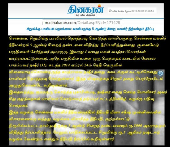 நஷீர் பாலியல்- தினகரன்