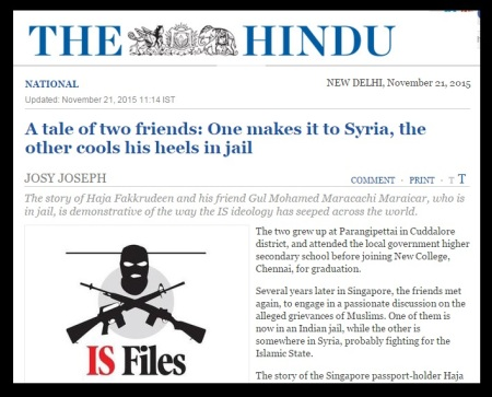 ISIL Chennai terror nexus - The Hindu - a tale of two friends