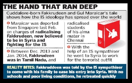 ISIL Chennai terror nexus - The Hindu graphics
