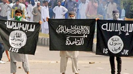 J K youth showing off ISIS Flags during demonstration againat India