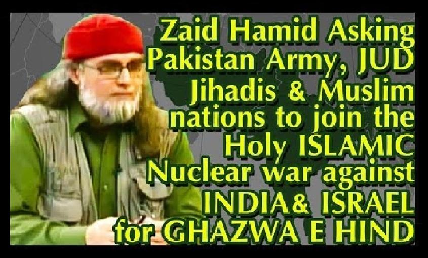 Zaid Hamid asks to wage jihad against India and isreal