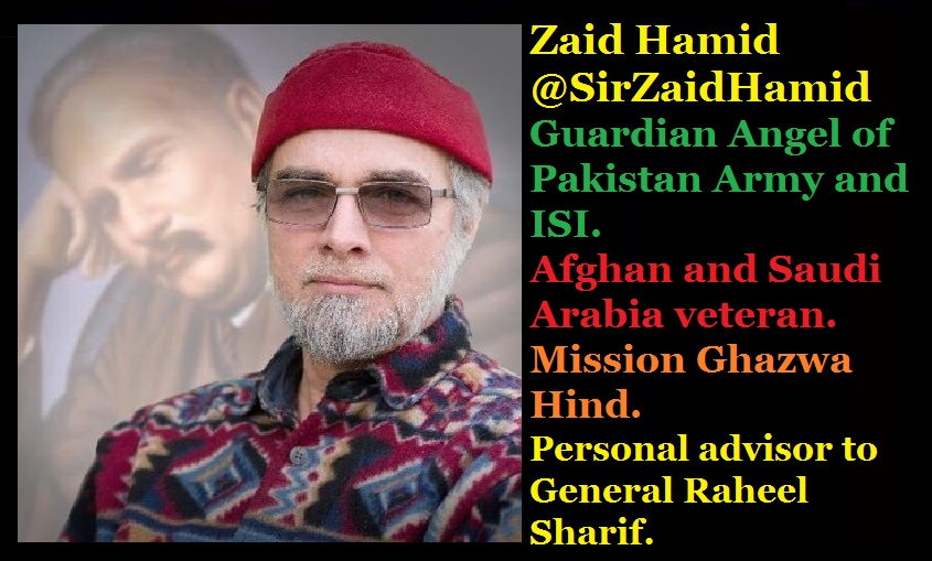Zaid Hamid, Guardian Angel of Pakistan Army and ISI எட்ச்