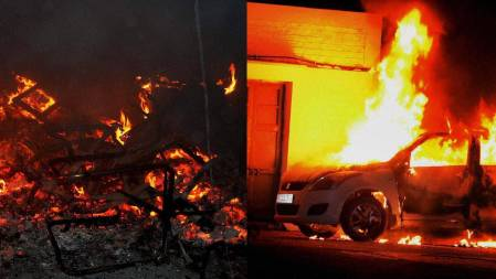 amu-story-vehicles burnt