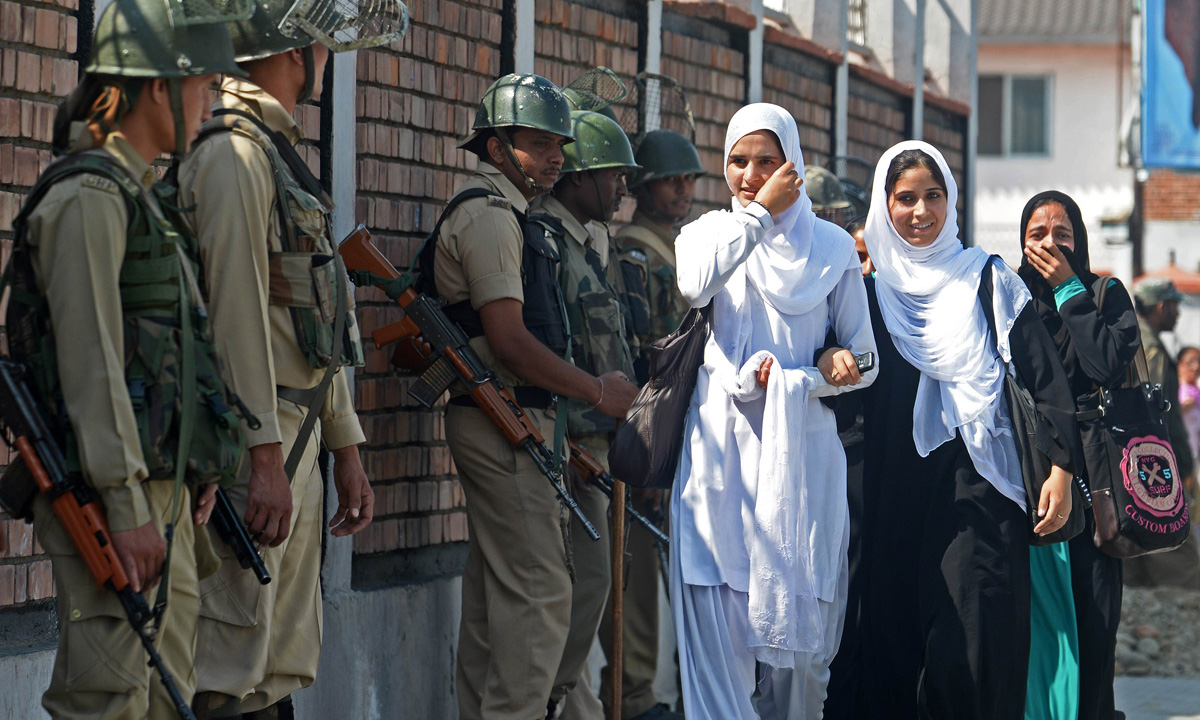 Army protecting school girls - but accused of