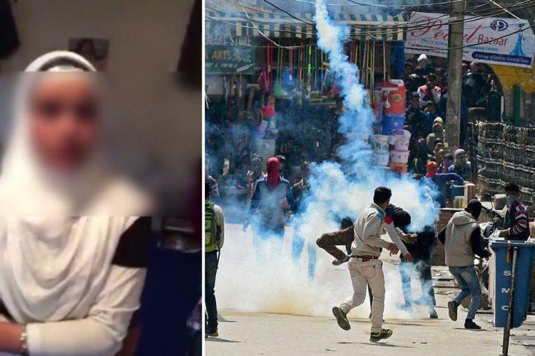 Handwara, Kupwara, JK girl viedo turned riot 12-04-2016.