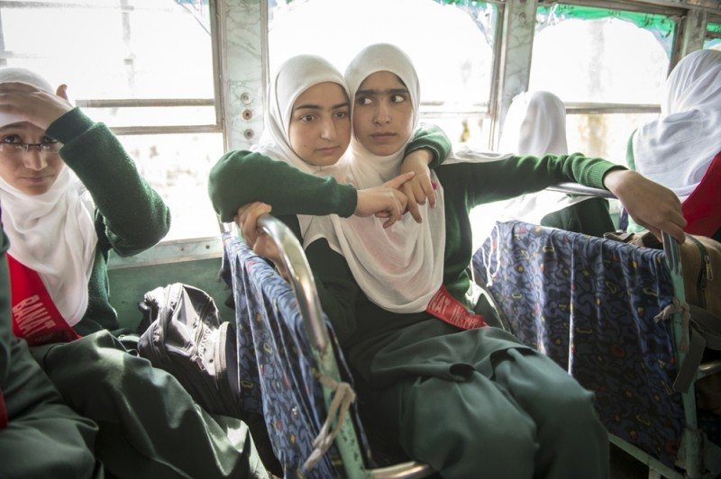Kashmir school girls innocent looking and living isolated