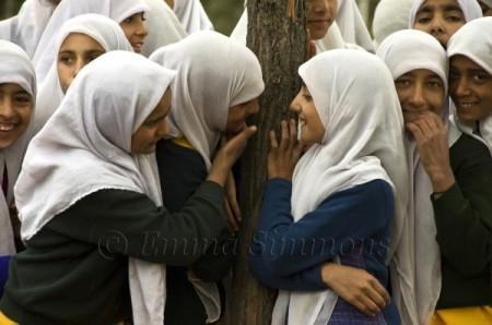 Kashmir school girls innocent looking