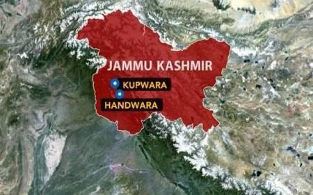 Kupwaraa, Handwara JK map