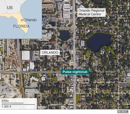 pulse club shooting - location map -scene-2