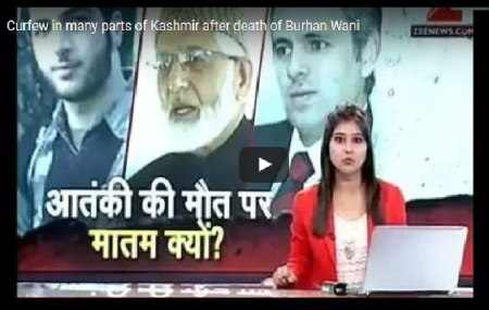 Burhan Wani - supported by omar, jilani etc