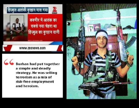 J-K - New type of young terrorist-burhan wani