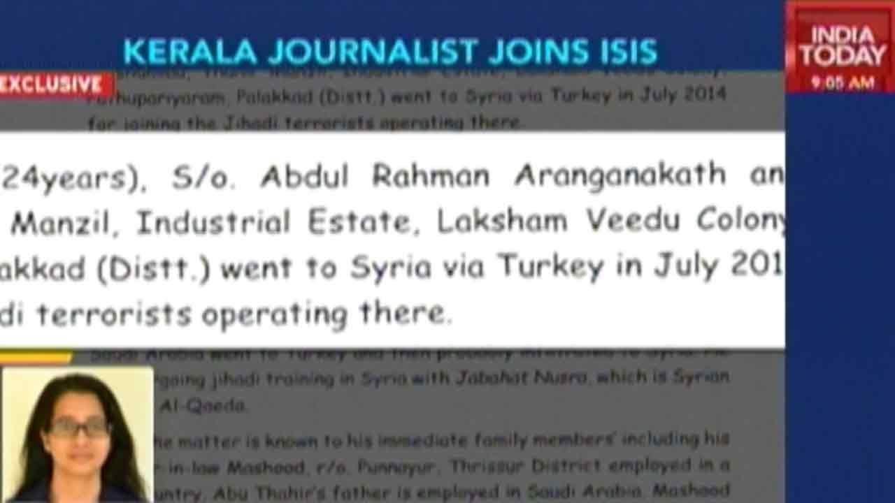 Kerala jouranalist joins ISIS