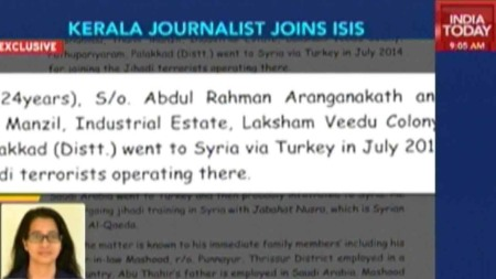 Kerala jouranalist joins ISIS