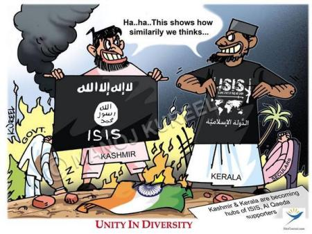 Kerala, Kashmir becoming hub of ISIS