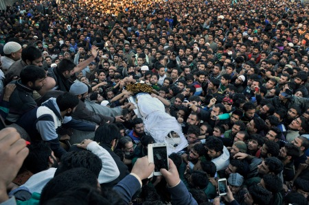 qasim funeral huge crowd