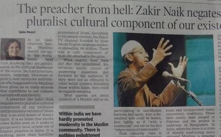 Saba Nazvi article on Zakir Naik-cutting