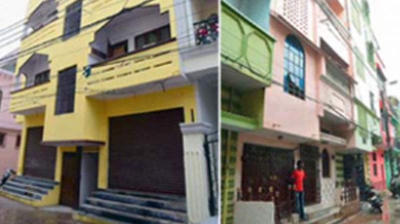 The houses in Charminar and Moghalpura from where the IS suspects were arrested.