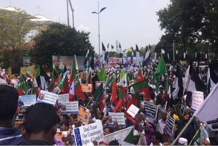 zakir naik protest chennai 2