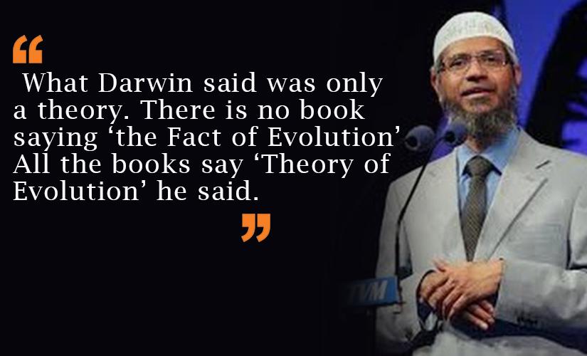 Zakir opposing Darwin