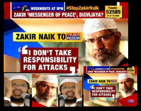 Zakir says he cannot take responsibility
