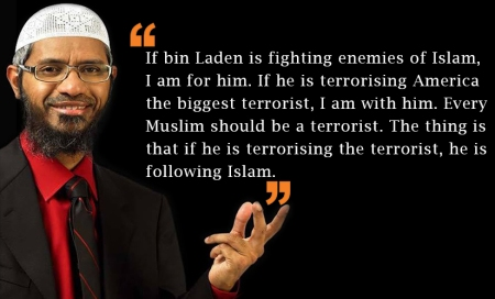 Zakir supporting Osama bin laden