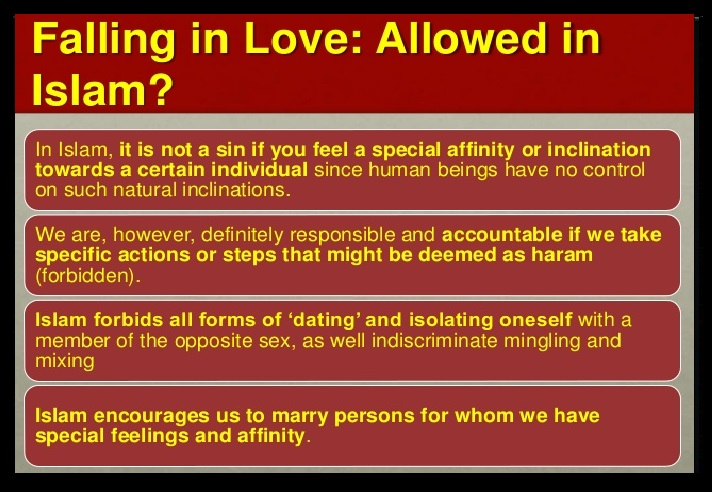Falling in love - allowed in Islam or not