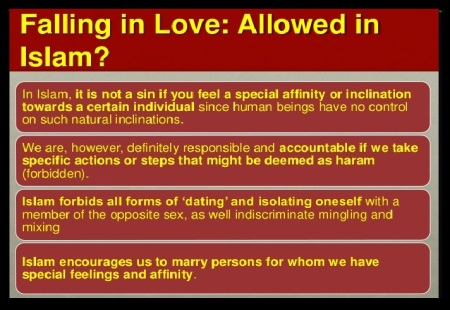 Falling in love - allowed in Islam or not